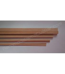 Listón de pino 2x4x1000mm