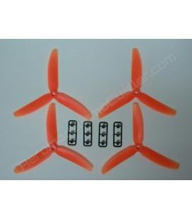 Hélice multirrotor 5 x 3 Tripala naranja (4uds)