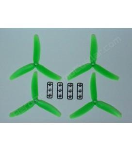 Hélice multirrotor 5 x 3 Tripala verde (4uds)