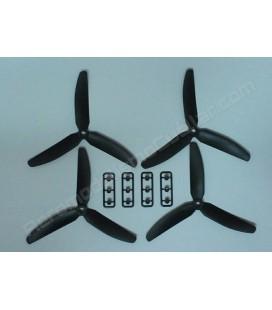 Hélice multirrotor 5 x 3 Tripala negra (4uds)