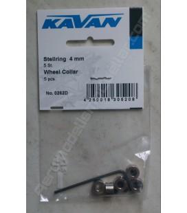 Prisionero de 4mm Kavan con llave (5uds)