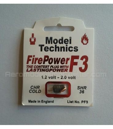 Bujía glow Model Technics F3 fría