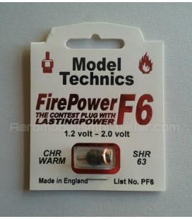 Bujía glow Model Technics F6 Templada