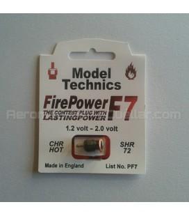 Bujía glow Model Technics F7 Caliente