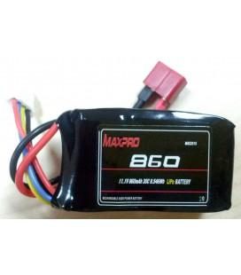 Batería Li-Po 11,1V 860mAh 30C 3S