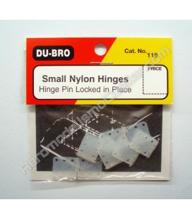 Bisagra Nylon 11x28mm (6uds)