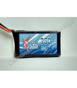 Batería LiPo Rapicon 7.4V 350mAh 2S 30C