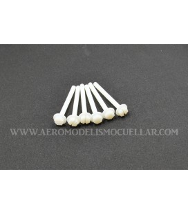 Tornillo Nylon Alas M6x60mm (6uds)