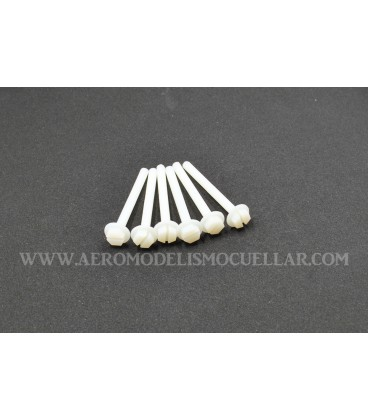 Tornillo Nylon Alas M6x75mm (6uds)