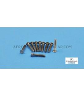Tornillo Torx M2x10 Cabeza Avellanda Acero (10uds)