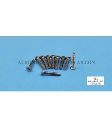 Tornillo Torx M2x12 Cabeza Avellanda Acero (10uds)