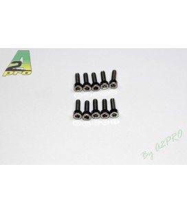 Tornillo Allen M2.5x12mm Acero Inoxidable (10uds)