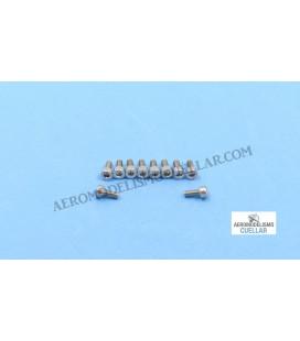 Tornillo Allen M2.5x6mm Acero Inox(10uds)