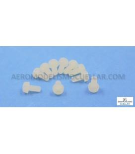 Tornillo Nylon M3x6mm Cabeza Cilindrica (10uds)