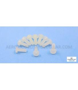 Tornillo Nylon M3x8mm Cabeza Cilindrica (10uds)