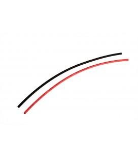 Termorretráctil 3.0mm Rojo/Negro 25cm