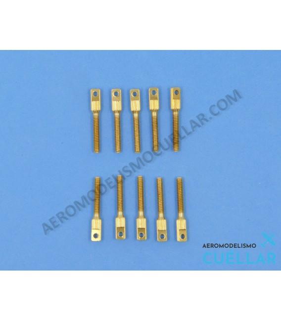 Adaptador Latón M3 Cable Acero (10uds)