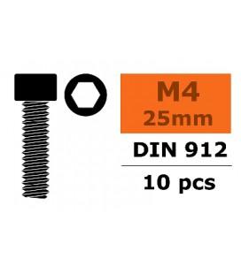 Tornillo Allen M4x25mm Acero (10uds)