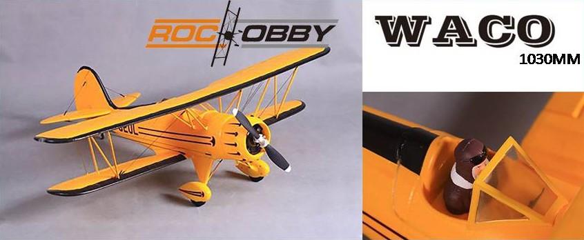 Roc Hobby Waco Amarillo 1030mm ARTF